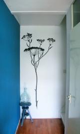 Muurschildering bloem