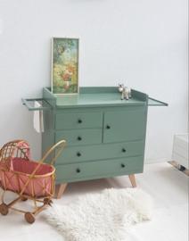 Vintage – jaren 60 commode - 22 – vergrijsd groen – restyle
