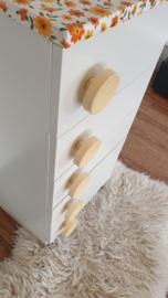 Smal ladekastje / hal kastje  – Bloem - 05 – vintage restyle