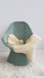 Rieten stoel 03 – Celadoon – vintage - restyle