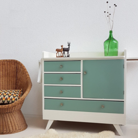 Vintage – sixties commode celadoon 1 – groot - restyle