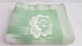 100% wollen deken – groen – vintage – nr 14