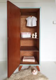 Vintage – 1deurs kledingkast Celadoon –46 - restyle