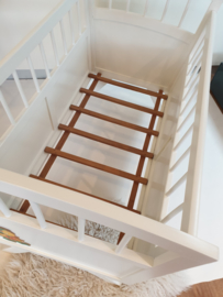 Vintage houten baby ledikantje – Roomwit 15