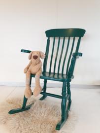 Houten schommelstoel met armleuningen – Jungle – vintage restyle