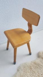 Schoolstoel peuter – hout – gelakt – 4 - vintage