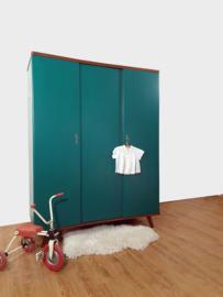 Vintage – driedeurs kledingkast Jungle –32 - restyle
