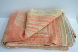 100% wollen deken – merk onbekend - vintage