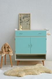 Vintage commode – sixties - mintgroen – restyle