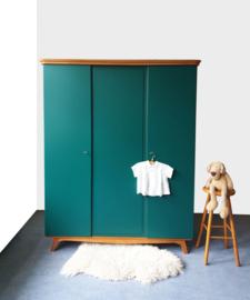 Vintage – driedeurs kledingkast Jungle – 51 - restyle