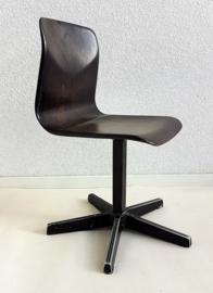 Peuter school stoeltje  – donker bruin - vintage
