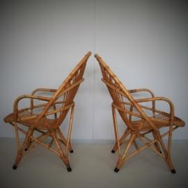 Retro rotan stoel