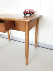 Vintage houten schrijftafeltje Naturel