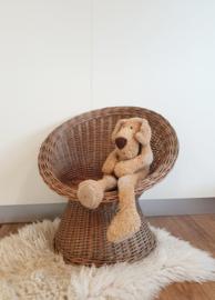 Peuter stoel van pitriet - vintage