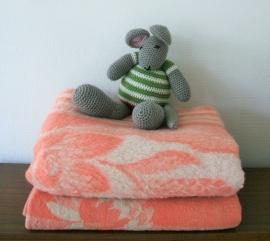 Wollen deken - zacht roze
