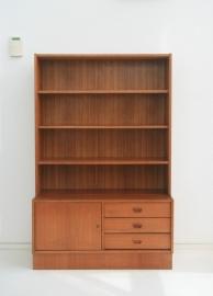 Wandkast – boekenkast met lades – jaren 60 vintage