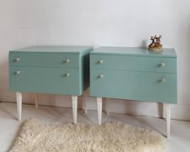 Vintage set nachtkastjes restyle  –  27