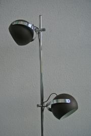Vintage matbruine vloerlamp - Herda