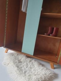 Vintage – tweedeurs kledingkast Celadoon – 56 - restyle