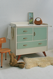 Vintage – fifties green - commode – restyle - 2