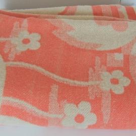 100% wollen deken in vintage staat