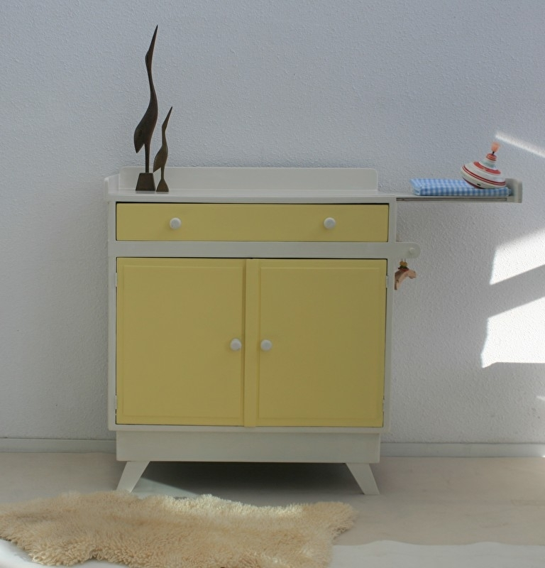 Vintage houten commode -3- restyle