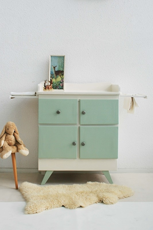 Vintage – fifties green - commode – restyle