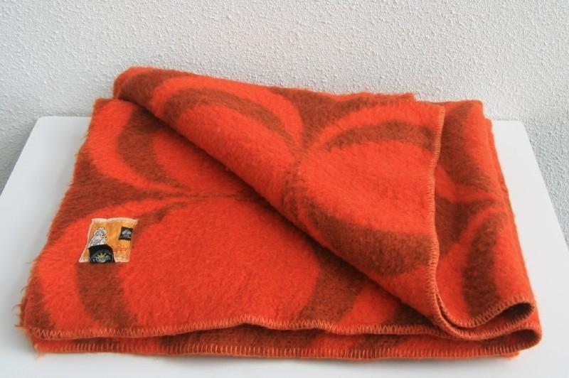Merk Wollen Dekens.100 Wollen Deken Merk Zaalberg Retro Textiel