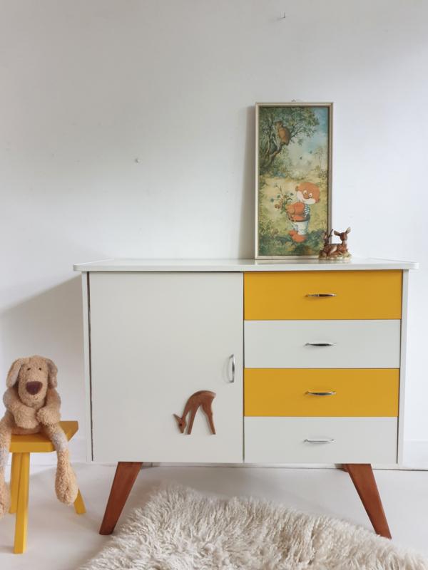 Vintage – jaren 60 commode Okergeel - nr. 76 – restyle