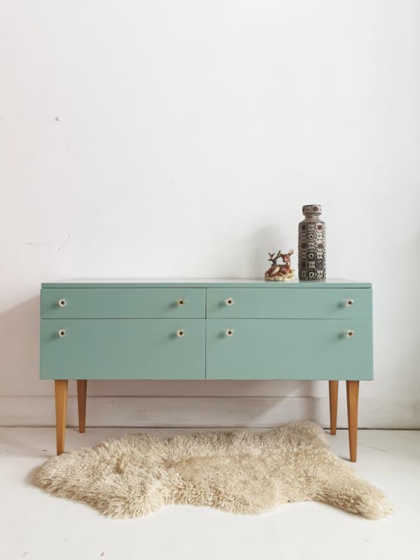 Klein dressoir / kaptafel / werktafeltje peuter - 15 – vintage restyle