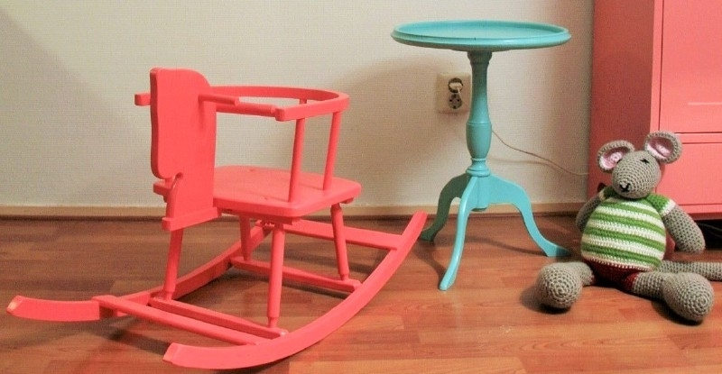 Vintage houten schommelstoel - paardje