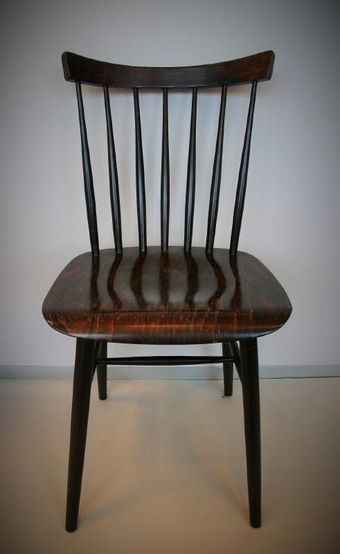 Spijlen stoel - bruin