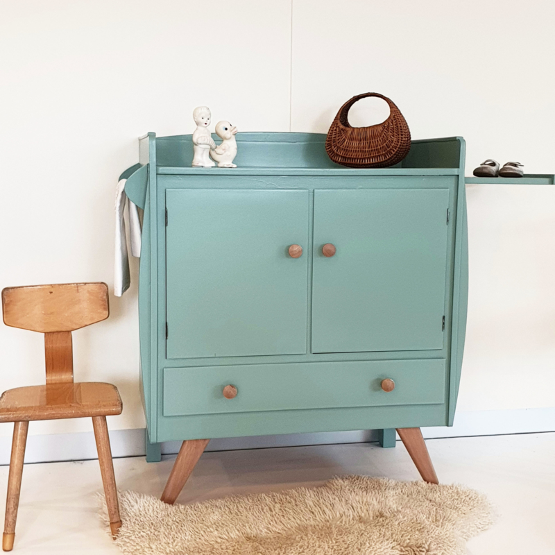 Vintage – jaren 60 commode – Celadoon - nr. 65 – restyle