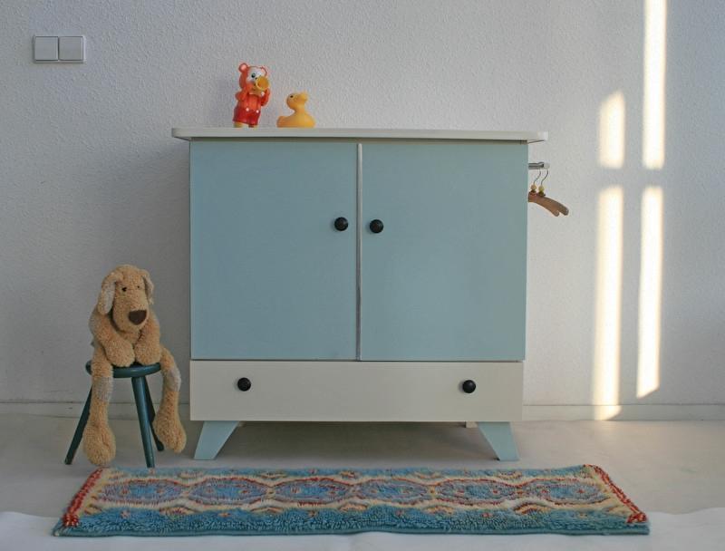 Vintage commode - grijsblauw– restyle