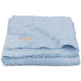 Jollein Fancy Knit Baby Blue Wiegdeken