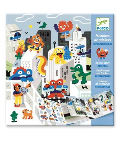 Stickerboek Monsters Djeco