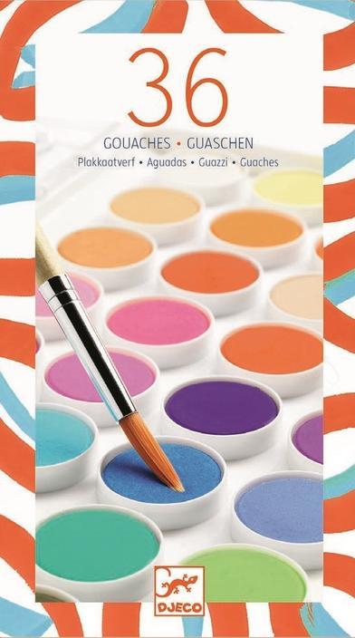 Djeco Waterverf 36 kleuren