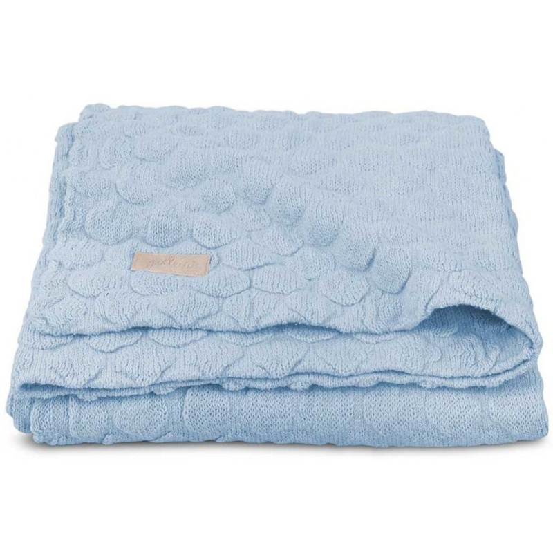 Jollein Fancy Knit Baby Blue Wiegdeken