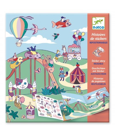 Stickerboek Kermis Djeco