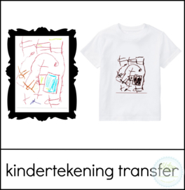 Kindertekening textieltransfer