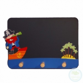 Schoolbord en kapstok Piraat