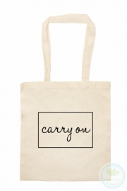 Katoenen tas  Carry on