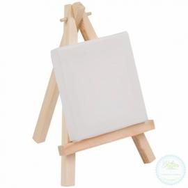 Mini schildersezel met canvas doek