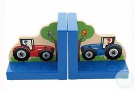 Boekensteunset Tractor Blauw