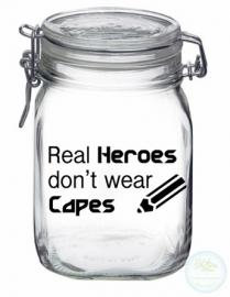 Weckpot met opdruk (1 liter) - Real Heroes...