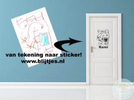 Kindertekening sticker