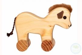 Houten dier op wielen | Paardje