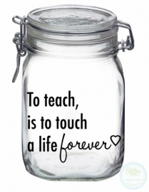 Weckpot met opdruk (1 liter) - To teach...