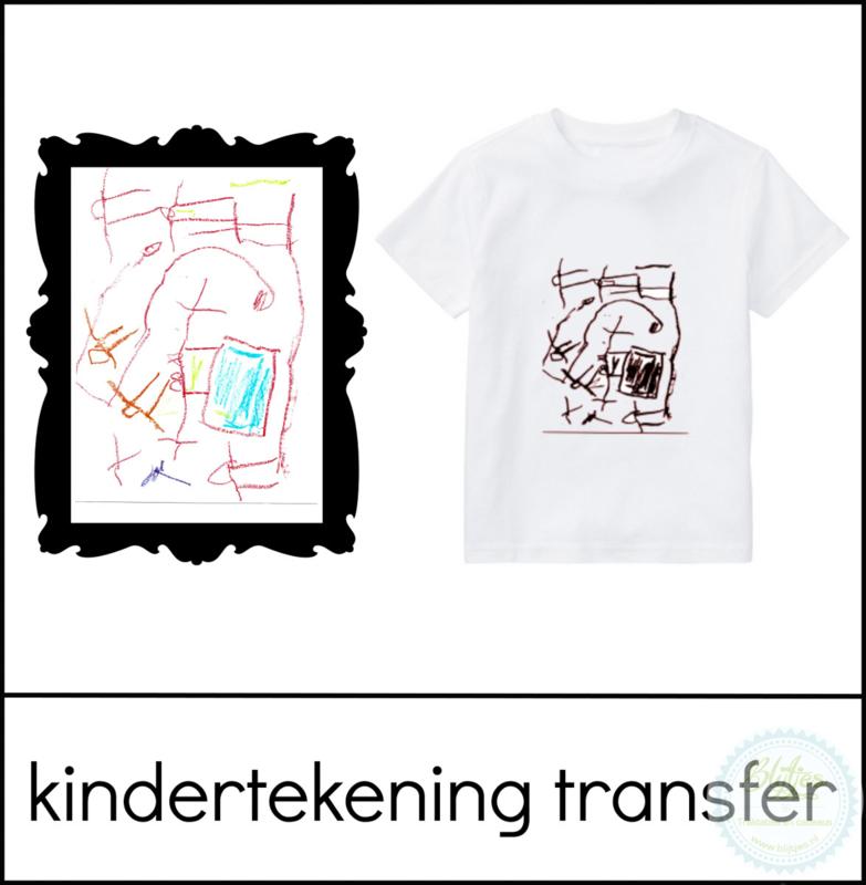 Kindertekening textieltransfer