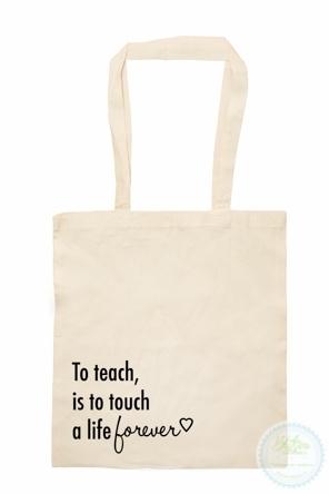 Katoenen tas   to teach
